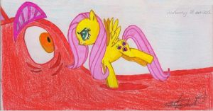 Fluttershy vs. Dragon (S01 EP07: Dragonshy) by Whisperer-of-Winds