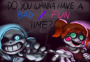 Bad Fun Time [Undertale/Sister Location Crossover] by StefiNJY