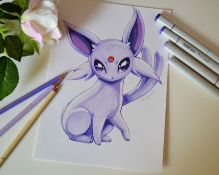 Espeon by Lighane