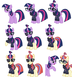 Twilight's Moondancer disguise frame by frame by moshifan62