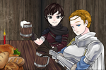 Arya and Brienne having a drink by ThomasAnime