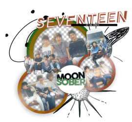 SEVENTEEN-PNGPACK#3 by MoonSober