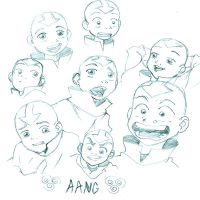 Aang random sketches by Jini--Chan