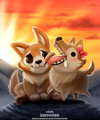 Daily Paint 2135. Awooed by Cryptid-Creations