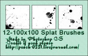 spatter icon brushes by princesspeach0221