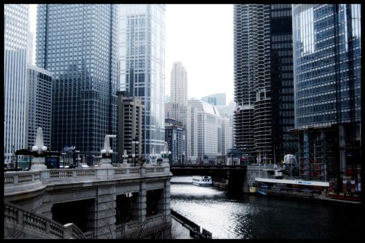 Chicago River by PenelopeT