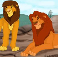 kopa and simba by coolrat