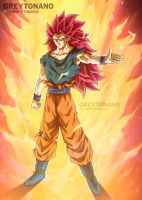 Goku SSJ3 GOD by Greytonano
