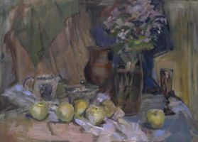Still life with apples by ntrppttprfctm