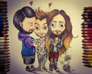 THIRTY SECONDS TO MARS IN CARTOON-STYLE! by SUSI-the-FUZZYHEAD