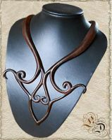 Leather necklace 24-2 by Eternal-designs-com