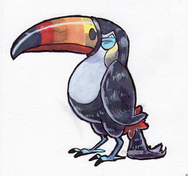 #733 Toucannon by little-ampharos