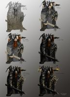 Dwarves sketched in Photoshop by dazzer7