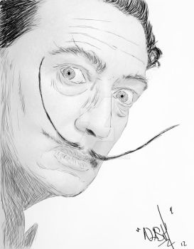 Salvador Dali Sketch by nassh