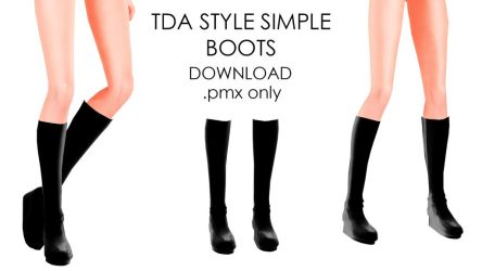 TDA STYLED SIMPLE BLACK BOOTS DL by Destiny7865