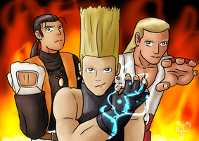 King of Fighters (Robert, Benimaru and Andy) by MayMSHughes