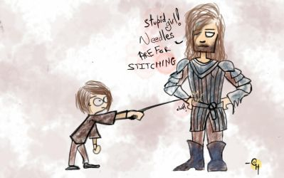 Arya and the Hound by goutham9986