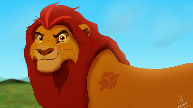 The leader of the Lion Guard by JR-Style