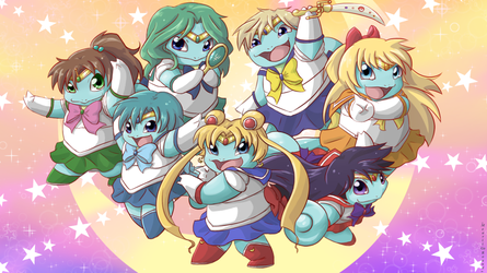 .:Commission:. Squirtle Scouts by Mearii-chi