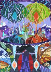 the birth of two trees by breath-art