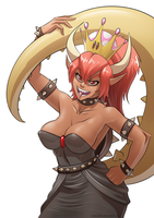Bowsette by Underpable