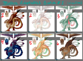 Mothra Adoptables Batch 1 CUSTOMS AVAILABLE by SashaWren