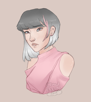 Pink Child by CloudDoodle