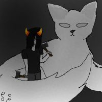 June And Her Lusus(Homestuck OC) by Shotgungamer8