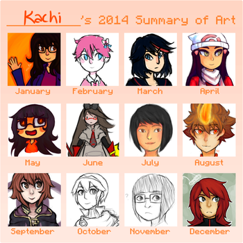 2014 Art Summary by xRuki-chanxx