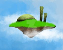 Digital Painting_flying landscapes by taramultimedia