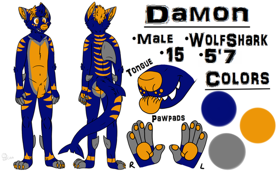Damon reference sheet by Shaydestuck