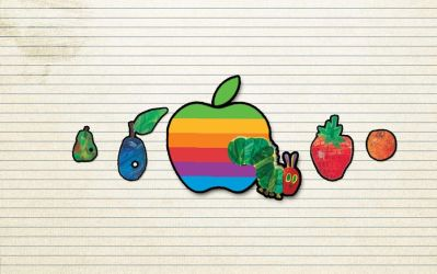 Very Hungry Caterpillar Macintosh Apple by LindsayCookie