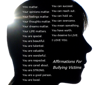 Affirmations For Bullying Victims banner 1 by C-y-n-d-i