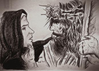 Mary Goes To Jesus - a Passion of the Chris fanart by RAMI545