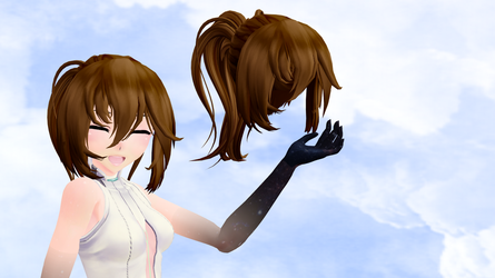 [MMD] Hair edit Ponytail +DL by CamiSergianni