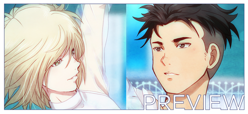 Gold Medal - YOI fanbook preview by akayashi