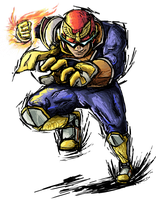 Smash Striker: Captain Falcon by Tails1000
