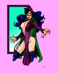 DC GIRLS: CATWOMAN (Silver Age) by T-Denton