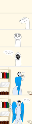 Mike is bored (Stupid comic) by Stellyf-c