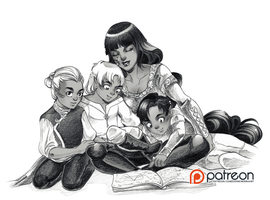 Request: Sif and her sons by sionra