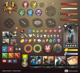 Dungeon Hunter 5 in-game Assets by Panperkin