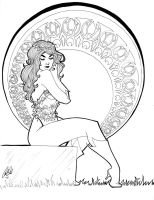 Art Nouveau Poison Ivy by Carliihde