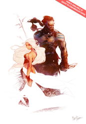 Daenerys and Drogo Final by Mikuloctopus
