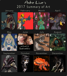 2017 Summary of Art by AnkeLive
