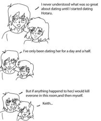 Keith is protective by Sailor-Brunette