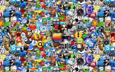 Mac Icons Wallpaper in Color by Advent-Media