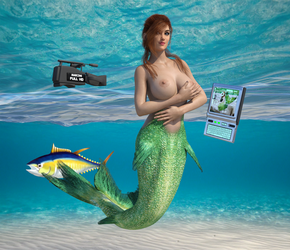 Webcam Mermaid by SeatailsArt