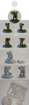 Orc Slayer Miniature (casts now available!) by LisaSchindler