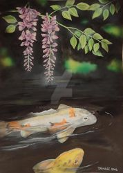 Koi and Whysteria by martoo1973