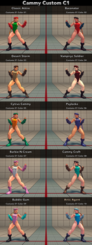 Cammy Custom Colors C1 by SadKnightv93